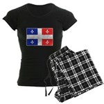 Drapeau Quebec Bleu Rouge Women's Dark Pajamas
