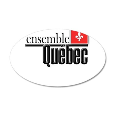 Quebec Ensemble 35x21 Oval Wall Decal