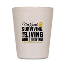 Thriving - Childhood Cancer Shot Glass