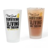 Thriving - Childhood Cancer Drinking Glass