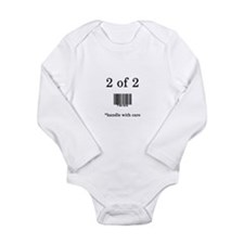 Cute Baby barcode Long Sleeve Infant Bodysuit