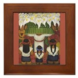 Diego Rivera Canal Detail Art Framed Tile