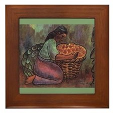 Diego Rivera Woman Kneeling Art Framed Tile