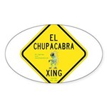 Chupacabra Stickers (Oval)