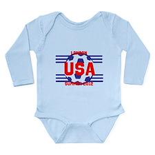 Team USA Long Sleeve Infant Bodysuit