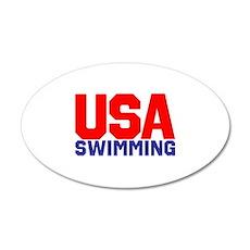 Team USA 20x12 Oval Wall Decal