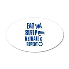 Eat Sleep Netball Decal Wall Sticker