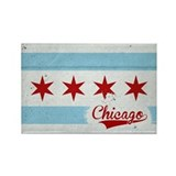 Vintage Chicago Flag Design Rectangle Magnet