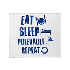 Eat Sleep Pole Vault Throw Blanket