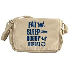 Eat Sleep Rugby Messenger Bag