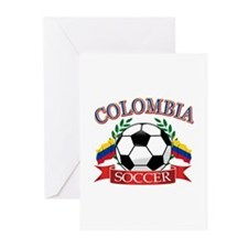 Colombia Soccer designs Greeting Cards (Pk of 20)