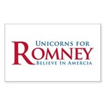 Unicorns for Romney Sticker (Rectangle 10 pk)