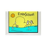 Fish'nSchool 2 Rectangle Magnet
