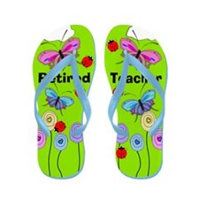 retired teacher 2.PNG Flip Flops
