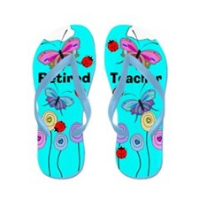 Retired Teacher 1.PNG Flip Flops