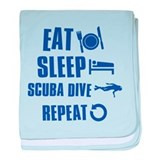 Eat Sleep Scuba Dive baby blanket