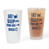 Eat Sleep Scuba Dive Drinking Glass