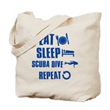 Eat Sleep Scuba Dive Tote Bag