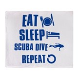 Eat Sleep Scuba Dive Throw Blanket
