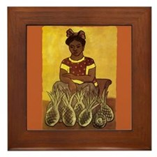 Diego Rivera Girl with Pineapples Art Framed Tile