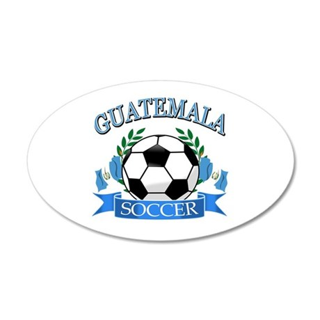 Guatemala Soccer designs 35x21 Oval Wall Decal