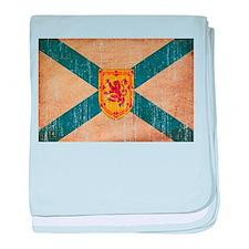 """Nova Scotia Flag baby blanket"