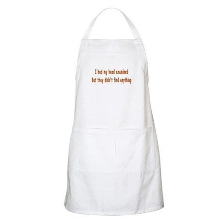 Humorous Empty Head Examination BBQ Apron