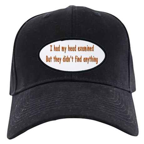 Humorous Empty Head Examination Black Cap
