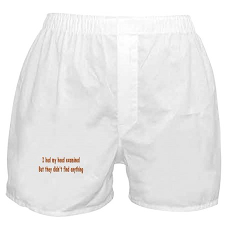 Humorous Empty Head Examination Boxer Shorts