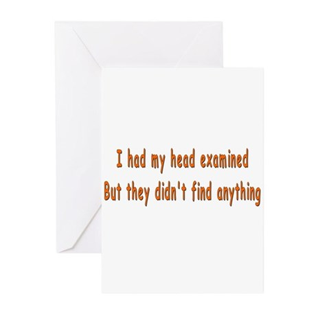 Humorous Empty Head Examination Greeting Cards (Pa