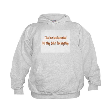 Humorous Empty Head Examination Kids Hoodie