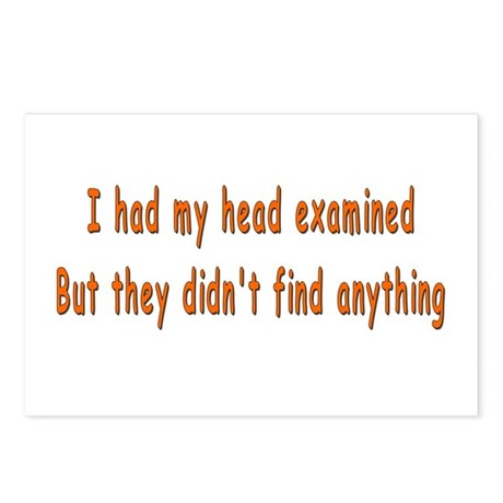 Humorous Empty Head Examination Postcards (Package