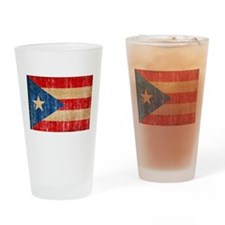 Puerto Rico Flag Drinking Glass