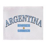 Argentina Soccer designs Throw Blanket