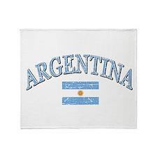 Argentina Soccer designs Throw Blanket