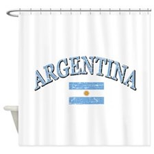 Argentina Soccer designs Shower Curtain