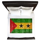 Sao Tome and Principe Flag King Duvet