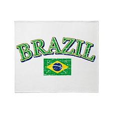 Brazil Soccer designs Throw Blanket