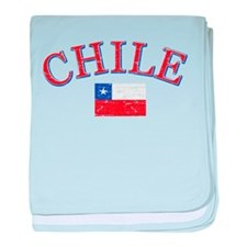 Chile Soccer designs baby blanket