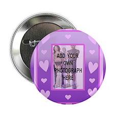 "Cute pink love heart photo 2.25"" Button"