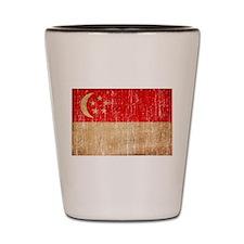 Singapore Flag Shot Glass