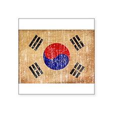 """South Korea Flag Square Sticker 3"""" x 3"""""""
