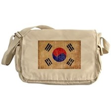 South Korea Flag Messenger Bag