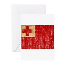 Tonga Flag Greeting Cards (Pk of 20)