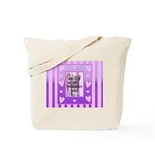 Cute pink love heart photo frame Tote Bag
