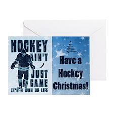 Hockey Way Of Life Christmas Card Greeting Cards