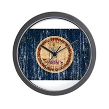 Virginia Flag Wall Clock