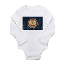 Virginia Flag Long Sleeve Infant Bodysuit