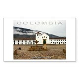 Villa de Leyva Rectangle Decal