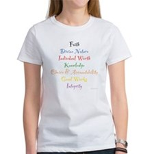Young Women Values Tee